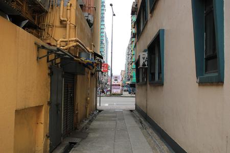 degradation: An old back alley Hong Kong 2017