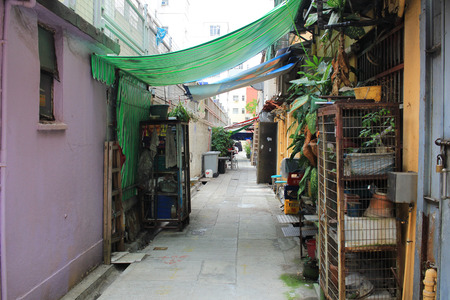 An old back alley Hong Kong 2017