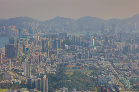 Middle of kowloon view from Loin Rock 2017