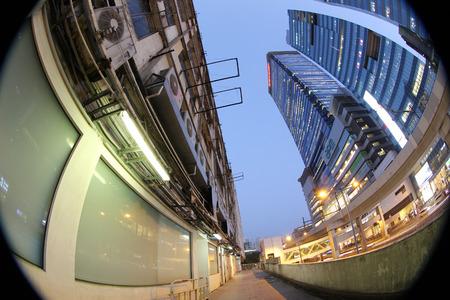 Kwun Tong distract ,  office buildings and tong lau