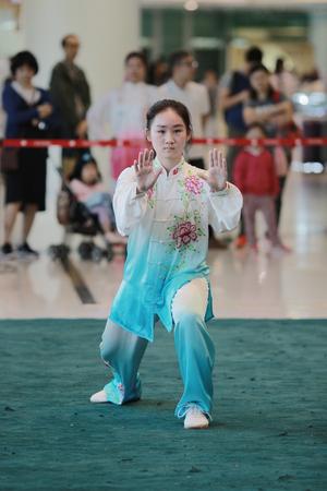 the Wu shu Demonstration at hk 2017