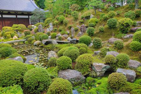 a zen garden of  Tofukuji Temple, kyoto