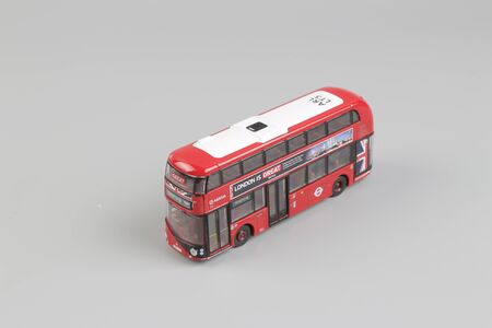 the  Bus model isolated over a white background