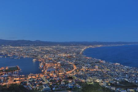 the Daytime view of Hakodate, Hokkaido, Japan.