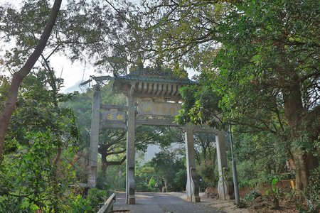 It is also known as Castle Peak Monastery since this temple complex perched on the hill