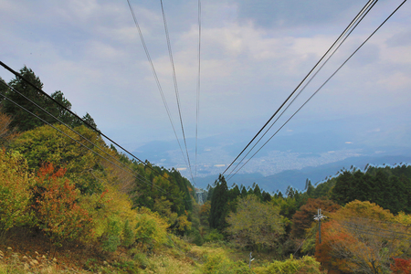 forest railroad: Keifuku Cable Line Cable Hiei