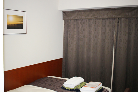 luxury apartment: the  typical room in a modern hotel japan