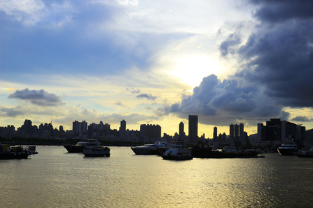 the Seaside park in Kwun tong promenade Hong Kong