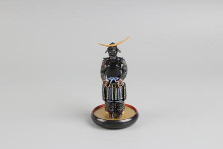 the figure off historic japnese samurai armor Stock Photo