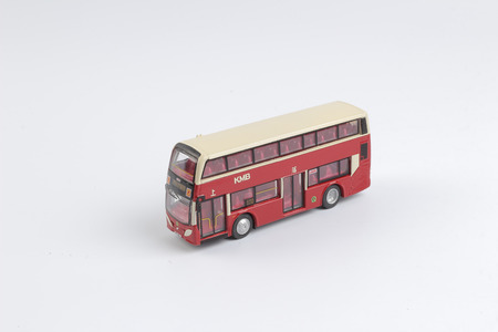 the Bus model isolated over a white background 版權商用圖片