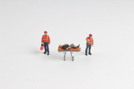 the  Ambulance as toy car and paramedics as toy figures Stok Fotoğraf
