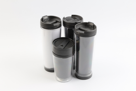 the Shiny Metal travel thermo cup at board