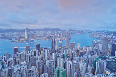 the Hong Kong victoria harbour at night 2017