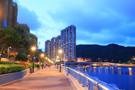 public housing: the Tseung Kwan O promenade, hong kong