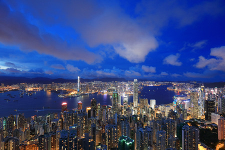 Night iew of Hong Kong from Victoria Peak Editorial