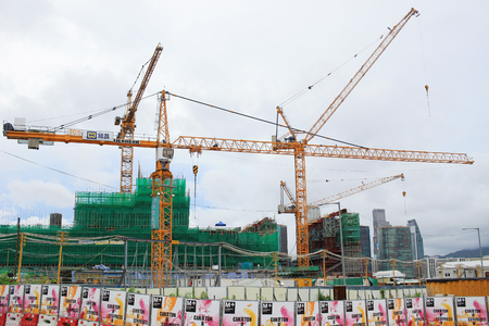 the Construction site of West Kowloon Cultural District Stock Photo