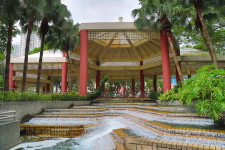 Tuen Mun park , the spring and Pavilion at park
