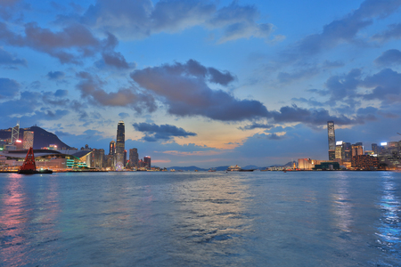 the Hong Kong City view of victoria harbour 2017