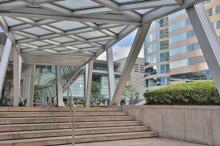 the walkway at Central, in Hong Kong, Hong Kong.