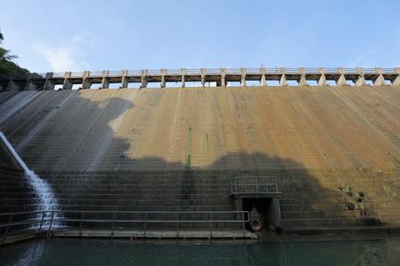 the dam at Aberdeen Lower Reservoir 2017 Stock Photo