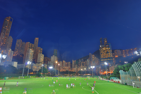 the Happy Valley Play ground at night hk