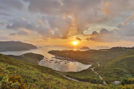 Sunrise, a fish village, Po Toi O, Sai Kung, Hong Kong