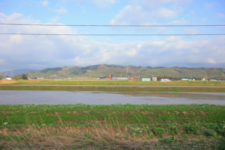 the Furano Line of countryside of Japan, Asia.