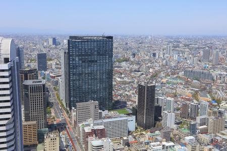 sprawl: the urban sprawl cityscape with Toshima and Shinjuku wards Stock Photo
