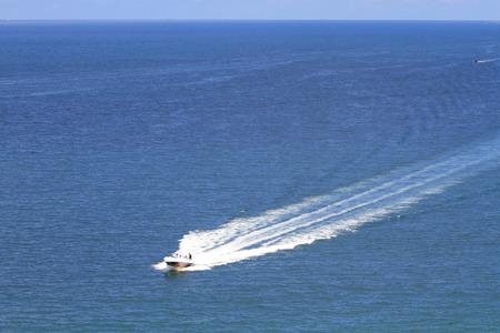 the motor boat, yacht jump at sai kung