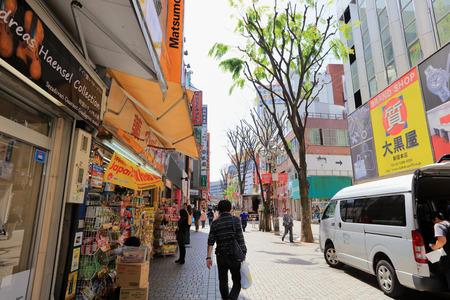 Shinjuku is a special ward located in Tokyo Metropolis, 2016 Editorial