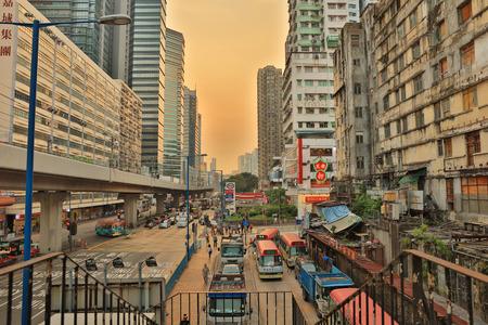 Hong Kong downtown , kwun tong District at 2017 Editorial