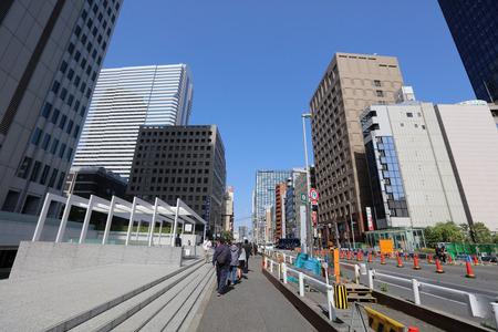 crossing the street at Shinjuku at 2016 Editorial