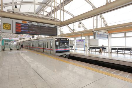 the station at Nippori at 2016