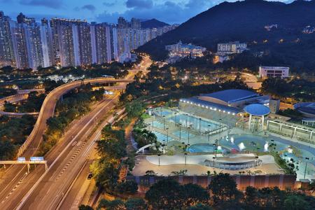 view of Po Shun Road at Tseung Kwan O hk Stock Photo