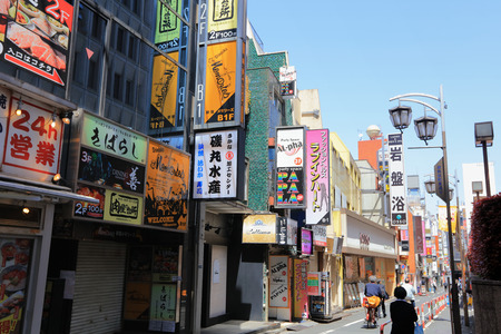 where is the night life place for tourists in Tokyo