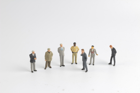 the mini model group of investor standing together