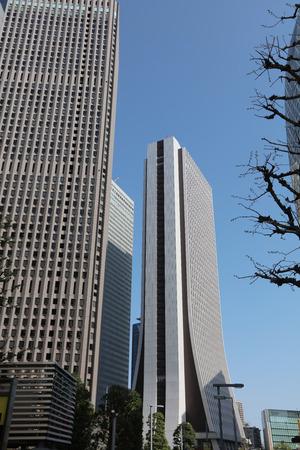 High-rise buildings and blue sky - Shinjuku, Tokyo, Japan