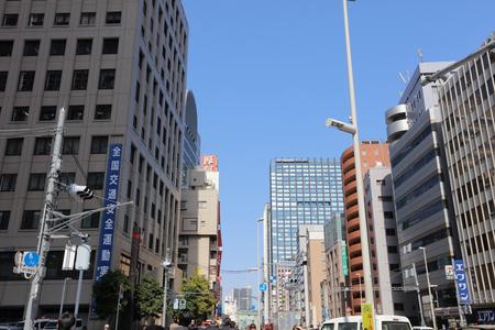 crossing the street at Shinjuku Japan