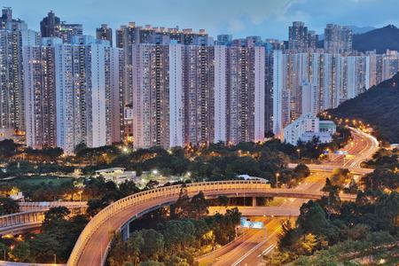 view of Po Shun Road at Tseung Kwan O hk Editorial