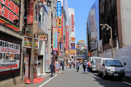 the pedestrians at Kabuki-cho district in Shinjuku, Tokyo Japan. Editorial