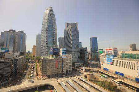 Tokyo, Japan cityscape at Shinjuku skyscraper district at 2016