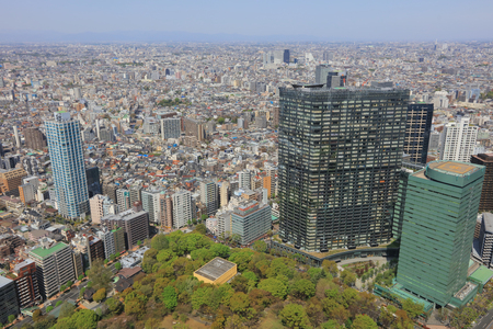 the Tokyo downtown streets Shinjuku skyscrapers  2016