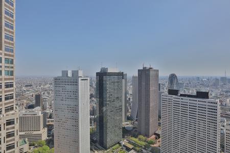 the High-rise buildings and blue sky - Shinjuku, Tokyo, Japan Stock Photo - 85234975