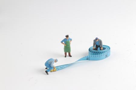 the mini figure face on measure tape