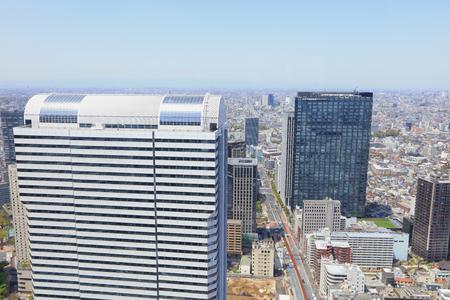 the High-rise buildings and blue sky - Shinjuku, Tokyo, Japan