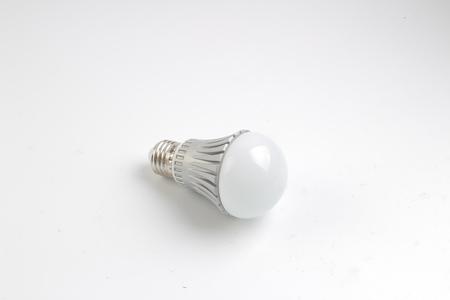 led 램프 전구 흰색 다시 지상에 격리 스톡 콘텐츠