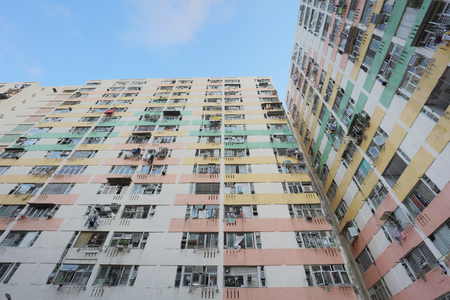 the old housing at Pak Tin Estate 2017 版權商用圖片