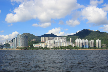 from East Lamma Channel view of Hong Kong