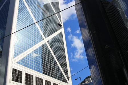the office buildings at central, hong kong