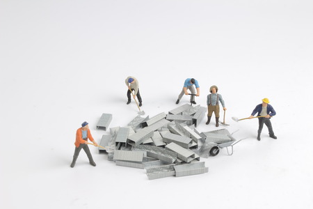 the fun of small figure move the iron